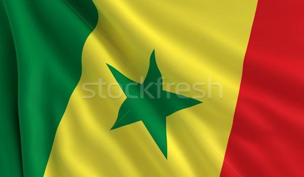 Bandeira Senegal vento textura fundo estrela Foto stock © cla78