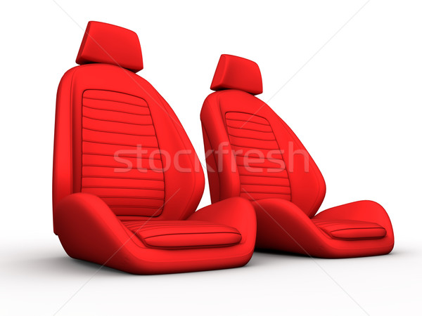 Two red car seat Stock photo © cla78