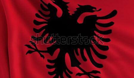 Flag of Albania Stock photo © cla78