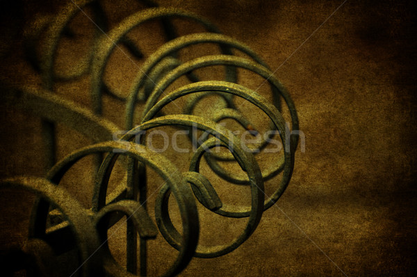 Alten Gitter Grunge verrostet gelb Metall Stock foto © cla78