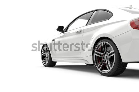 White fast car Stock photo © cla78