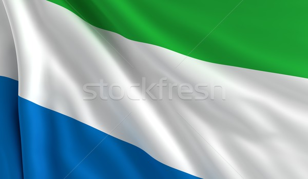 Flag of Sierra Leone Stock photo © cla78