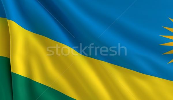 Flag of Rwanda Stock photo © cla78