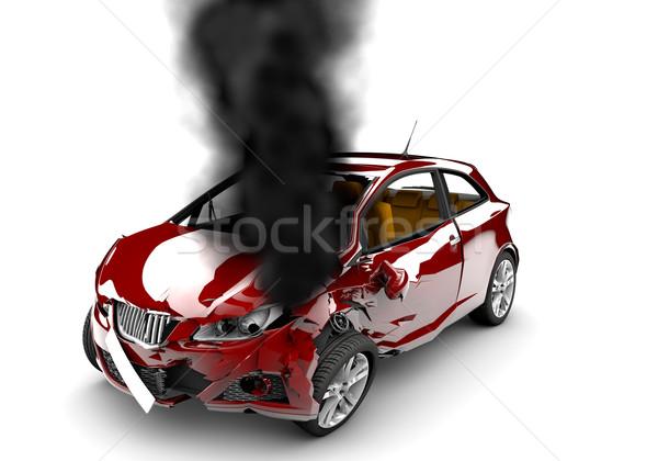 Red car burn Stock photo © cla78