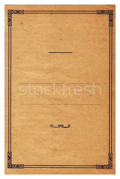 Old paper Stock photo © cla78