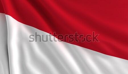 Vlag Costa Rica wind textuur achtergrond witte Stockfoto © cla78