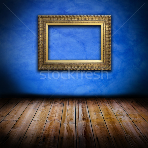 Stockfoto: Grunge · interieur · frame · oude · muur · houten