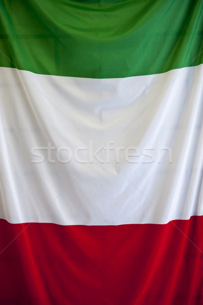 Italian flag stracić w górę shot falisty papieru Zdjęcia stock © cla78