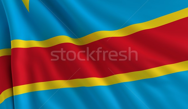 Flag of Democratic Republic of the Congo Stock photo © cla78
