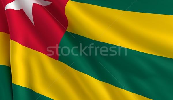Banderą Togo wiatr tekstury tle zielone Zdjęcia stock © cla78