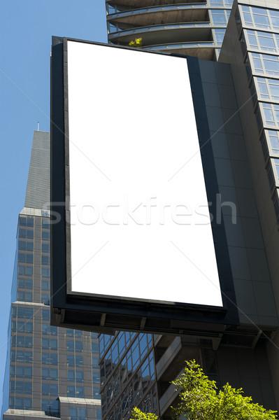 Billboard pionowy miejskich kopia przestrzeń działalności miasta Zdjęcia stock © cla78