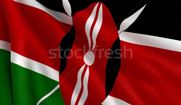 Pavillon Kenya vent texture fond noir Photo stock © cla78