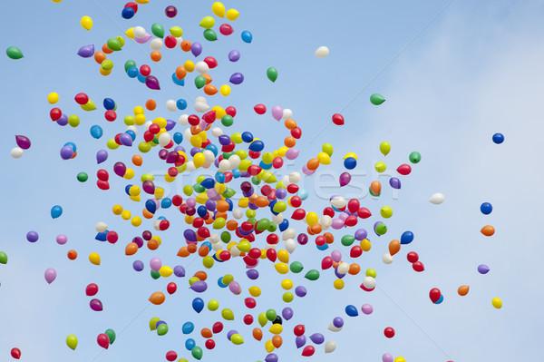 Colorido céu muitos balões voador ar Foto stock © cla78