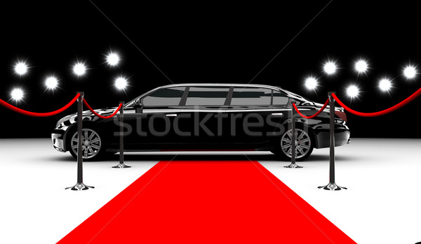 Stock photo: Black elegant car