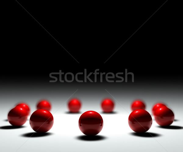 Kırmızı on bir kalabalık anahtar takım Stok fotoğraf © cla78