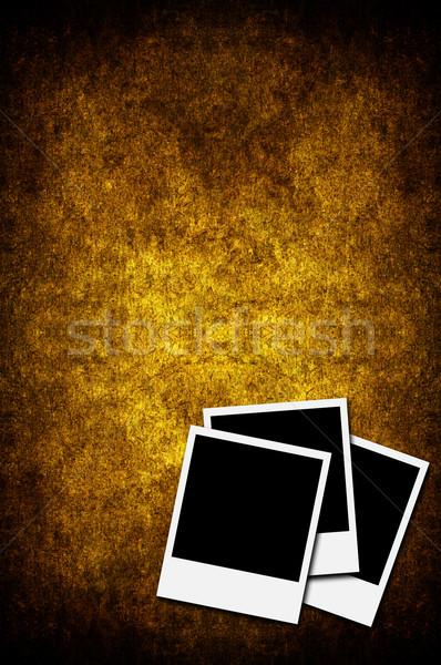 три фотографий Polaroid изолированный Гранж бумаги Сток-фото © cla78