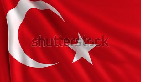 フラグ トルコ 風 テクスチャ 背景 星 ストックフォト © cla78