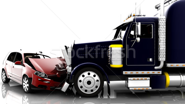 Accident between a car and a truck Stock photo © cla78