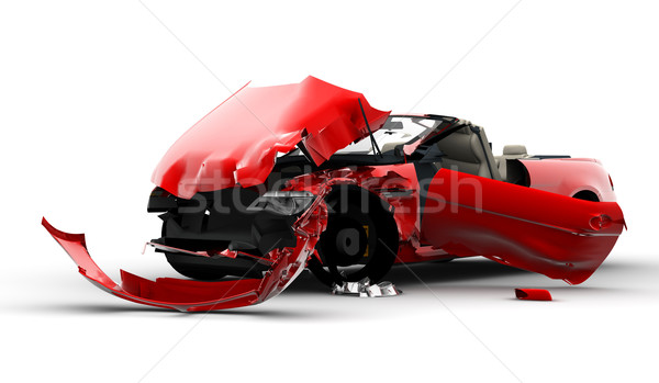 Red car accident Stock photo © cla78
