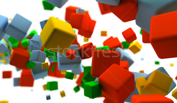 Colored cubes Stock photo © cla78