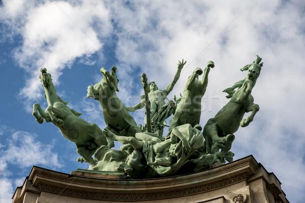 Horses statue in Paris Stock photo © cla78