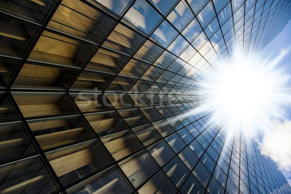 Gläser Wolkenkratzer Details Paris Textur Gebäude Stock foto © cla78