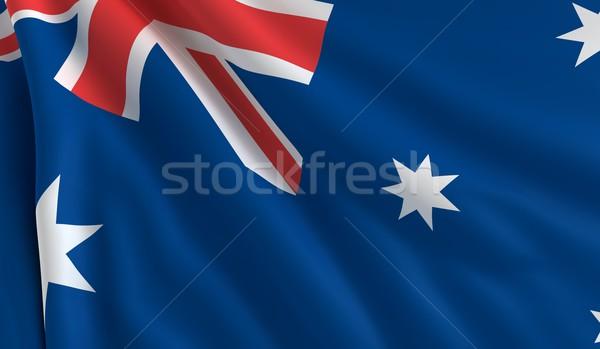 Banderą Australia wiatr tekstury krzyż tle Zdjęcia stock © cla78