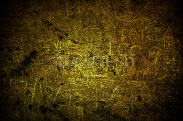 Foto stock: Rachado · luz · amarelo · grunge · concreto · construção