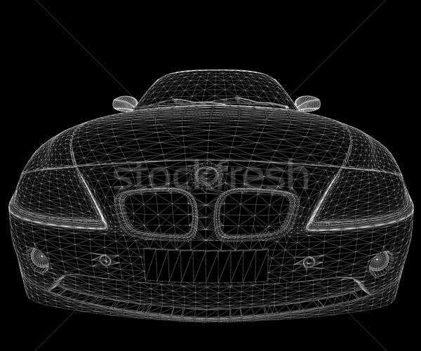 Черно-белые автомобилей белый изолированный черный модель Сток-фото © cla78