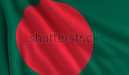 Zászló Banglades szél textúra háttér kultúra Stock fotó © cla78