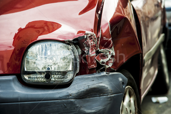 Red accident car Stock photo © cla78