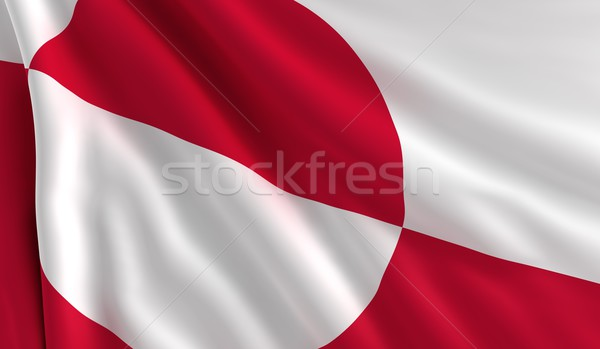 Stock photo: Flag of Greenland