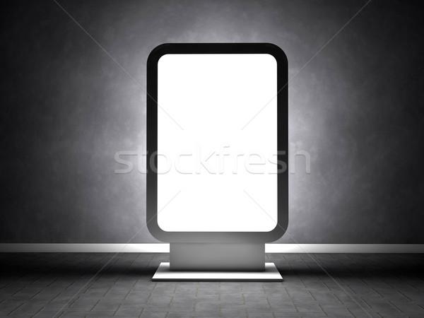 óriásplakát üres szoba hirdetés fal keret művészet Stock fotó © cla78