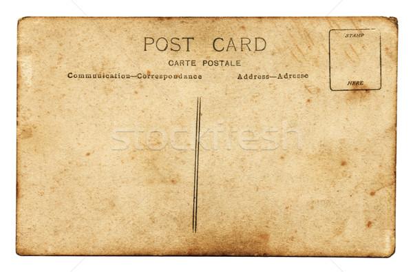Carte postale côté vieux grunge texture mail Photo stock © cla78