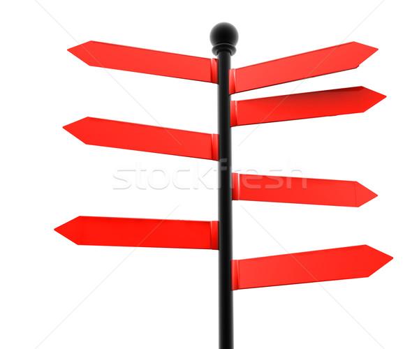 Red advisory Stock photo © cla78