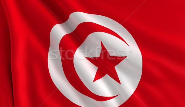 Flag of Tunisia Stock photo © cla78