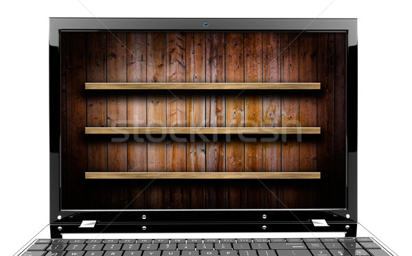 Laptop with shelf Stock photo © cla78