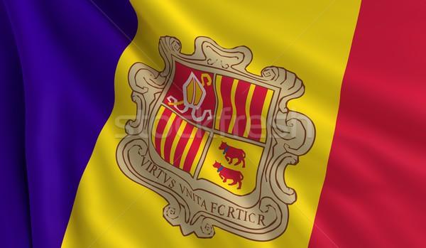 Flag of Andorra Stock photo © cla78