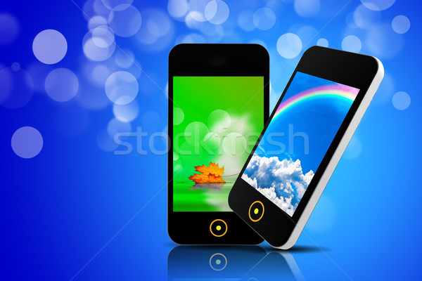 Phone isolated on a bokeh background Stock photo © cla78