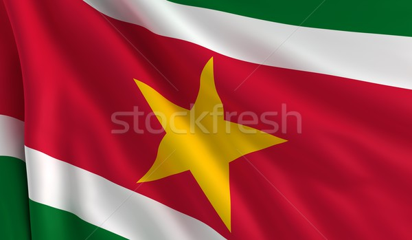 флаг Суринам ветер текстуры фон белый Сток-фото © cla78