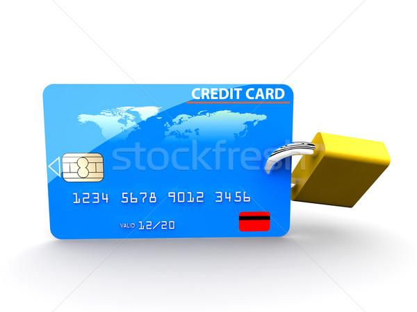 Credit card and padlock Stock photo © cla78