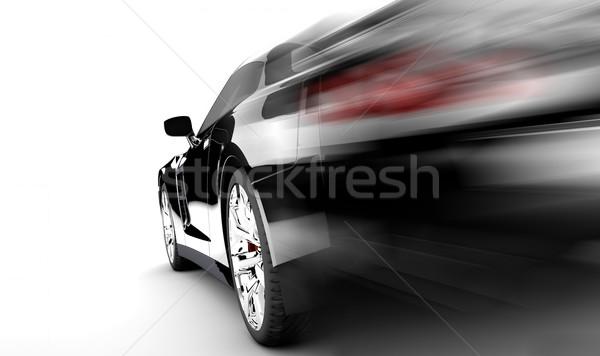 Black speed car Stock photo © cla78