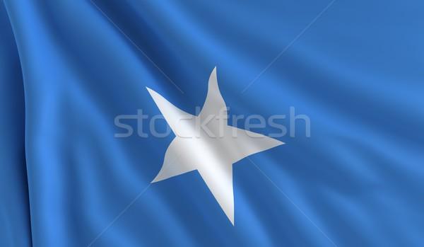 Pavillon Somalie vent texture fond star Photo stock © cla78