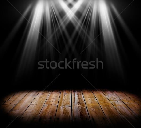 Iluminación dos terreno luz negro Foto stock © cla78