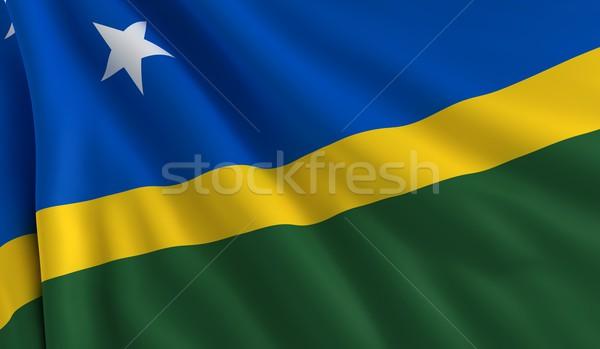 Bandiera Isole Salomone vento texture sfondo verde Foto d'archivio © cla78