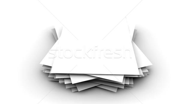 Witte papieren veel een business kantoor Stockfoto © cla78