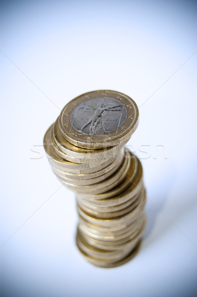 érmék sok izolált fehér üzlet pénz Stock fotó © cla78