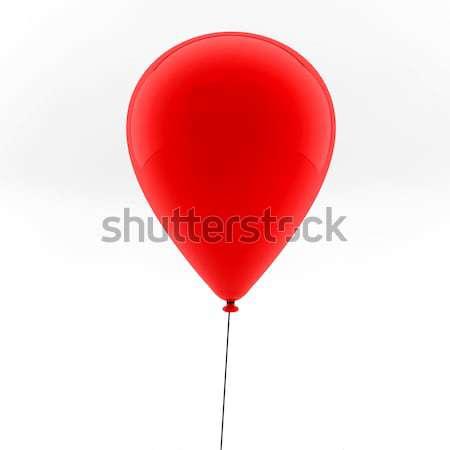 Een Rood ballonnen ballon vliegen lucht Stockfoto © cla78