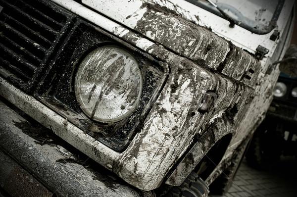 дороги автомобилей воды грязи стране Сток-фото © cla78