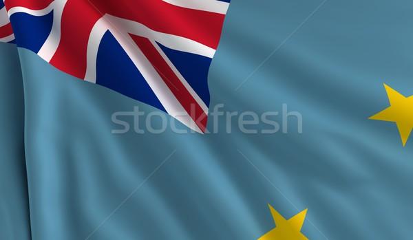 Bandeira Tuvalu vento textura atravessar fundo Foto stock © cla78
